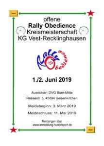 KGM Rally Obedience 2019 @ MV Buer-Mitte